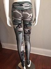 custom wholesale polyester spandex leggings camouflage fabric