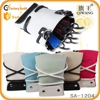 hair salon scissor bag leather hairdressing tool belt bag with waist shoulder belt