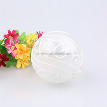 OEM branded manufacturer custom made make decorative eco personalized design Dia. 80mm frosted glass light up christmas balls