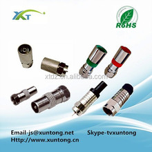 f connector compression straight type male plug crimp for rg6 rg58