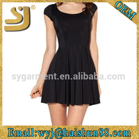 unique american style black sexy casual dress,fashion dress for ladies