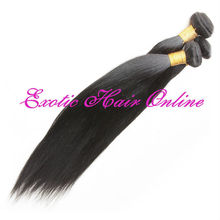 Exotichair whole sale virgin brazilian hair dark brown cheap remy hair extensions