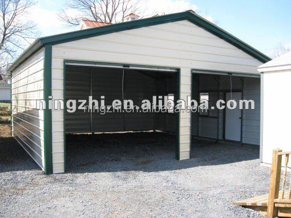 duplo carro garagens metal estrutura de a o de constru o do kit edif cios de a o pr fabricadas. Black Bedroom Furniture Sets. Home Design Ideas