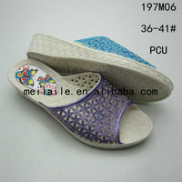 Latest PCU shoes for ladies materials in making slippers