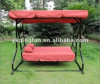3 Person Outdoor Swing Chair and Bed QF-6309