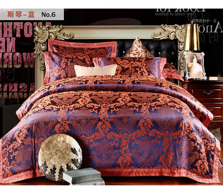 wholesale silk cotton luxurious bedclothes king queen size b