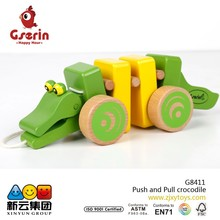 Wooden Baby Push and Pull crocodile TOY 2015 new toys