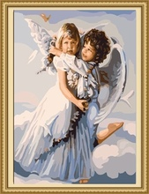 40*50cm oil painting of angel, angel classical oil painting