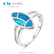 Popular Wholesale & Retail Designers Women's Rings Blue Fire Opal 925 Silver Rings Fashion Jewelry