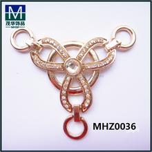 Guangzhou charming adornos de metal de las sandalias MHZ0036