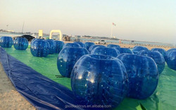 2014 bubble football/loopy football match cheap bubble ball giant inflatable clear ball zorbing bumper ball