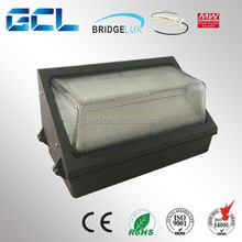 DLC ETL Listed led wall pack light 100W with UL Mean Well driver,90LM/W IP65 led wall pack