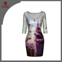 Sexy Women Cheap Dresses Printed Wholesale Custom