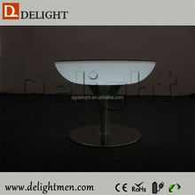 China supplier glow up plastic 16 color changing rechargeable mushroom shape coffee tables