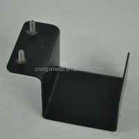 Customized Powder Coating Black U Shaped Metal Bracket