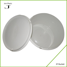 clear pp plastic buckets with lids colorful roundess bucket container