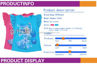 2015 sumer brand new baby girls frozen t-shirts wholesale kids clothes for 2-10 years baby girl tops
