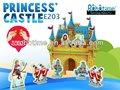 3d diy puzzle brinquedo castelo de madeira made in china