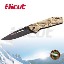 Liner Lock Folding Military Knife with Black Coating Blade