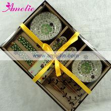 A0553 Green Color 6pcs/set Gift Box Pack Wedding Favors Chopstick