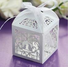 European style Wedding favors gift Laser Cut birdcage wedding candy box