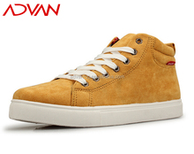 wholesale 2015 High Quality Vulcanized Canvas High Shoes Yellow Color Breathable