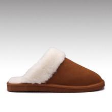 HC-948 Genuine leather upper sheepskin lining EVA outsole winter sheepskin slippers womens for indoor