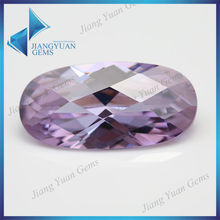 Lab Created Large Checker Cut Lavender Oval Cut Gems