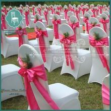 white spandex beach wedding chair decorations