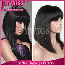Highest Quality Full Lace Human Hair Wig Sew in Two Color Ombre Wig For Fashion Women