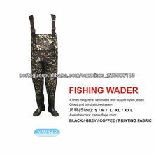 4 milímetros camuflagem SBR Ou SCR neoprene Bota Pesca