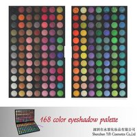 Christmas! 168 eyeshadow palette high quality flat definer brush