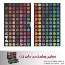 Christmas! 168 eyeshadow palette high quality flat definer brush