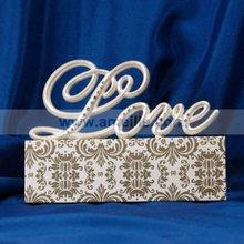 2013 Sale White Color Love Design Resin Wedding Cake Decoration A07369