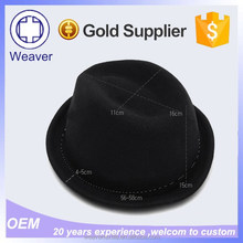 China Wholesale Market Round Fedora Children Felt Hats for Sale