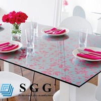 High quality Decorative Table Top Glass Lacquered