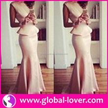 Latest arrival O neck sleeveless night dress for women