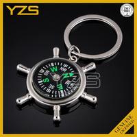 custom metal gps tracker compass decorative key chain