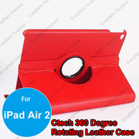 Wholesale 360 Degree Rotary Flip Stand Tablet PC PU Leather Wallet Case for iPad Air 2