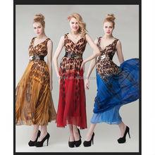 2015 new latest design bohemia tropical V-neck halter long dress for travelling