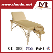round corner massage table/wooden massage couch