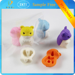 China Wholesale small mouse promotive gift 3d stationery animal eraser