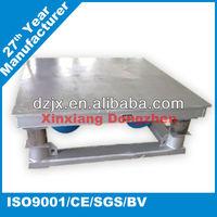Vibration table for concrete moulds