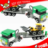 new products in the market 2014 toys plastic building blocks wholesale dropship children excavator toy container truck 8040