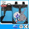 BBP503S Vintage School Bag Brief Casual Bag Natural Leather Backpack Pattern Washed Canvas