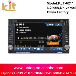 """Shenzhen factory automobiles 6.2"""" Inch Touch Screen Double 2 Din In-Dash Car DVD Stereo DVD PLAYER Built-in AM/FM with RDS Ste"""