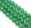 8 mm color verde buen lustre ronda forma de la buena calidad natural strand jade