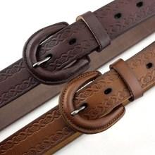 Jadear Buckle Hypoallergenic Women's Genuine Leather Belt M34