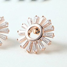 Wholesale cheap costume jewelry real flower ear stud