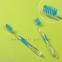 FDA Approval OEM ODM Transparent Small Head Own Brand Adult Transparent Toothbrush A2114E